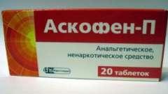 Аскофен п: показання до застосування. Ефективність при взаємодії з іншими медикаментами