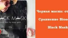 Чорні маски для обличчя black mask і bioaqua: відгуки і порівняння
