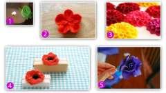 Квіти з тканини своїми руками: приклади і покрокові схеми