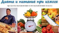Дієта і харчування при печії