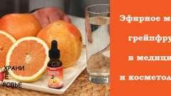 Ефірна олія грейпфрута. Застосування
