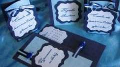 Як оформити запрошення на весілля в синій гамі: поради професіоналів