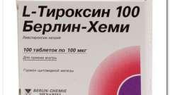 L (ель) -тіроксін 25,50,75 і 100 мкг: інструкція, показання, передозування
