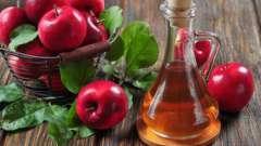 Лікування горла яблучним оцтом - рецепти для полоскань
