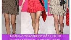 Модні тенденції спідниць 2013: багатошаровість і яскраві кольори, простота фасону і складність фактури