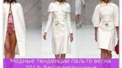 Модні тенденції пальто навесні 2013: безпрограшні елегантність і простота!