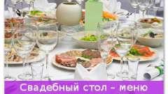 Весільний стіл - меню страв